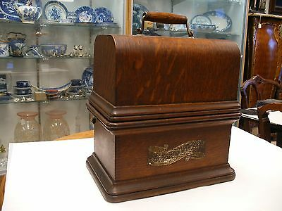 Columbia Graphophone Cylinder Phonograph Models BQ, BKT - Case & Cover Only