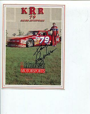 Dave Rezendes NASCAR Nationwid Camping World Truck Driver Signed Autograph Photo