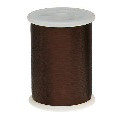 "43 AWG Gauge Plain Enamel Copper Magnet Wire 1.0 lbs 66092' 0.0024"" 105C Brown"