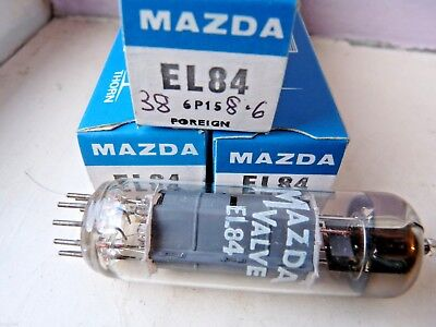 EL84  Mazda  Made in Europe Coded E74  New Old Stock Valve Tube   J14