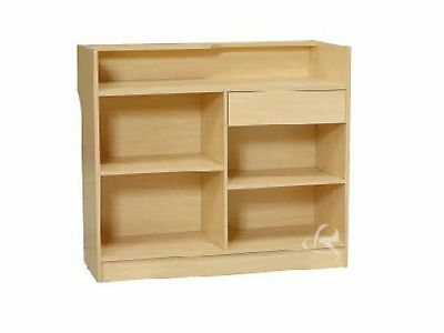 Register Maple Stand Display Case Store Fixture Wood Knocked Down #LTC4M
