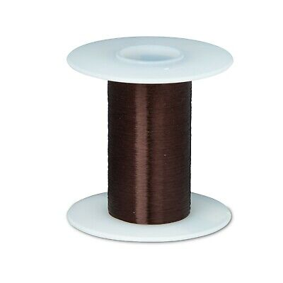 "42 AWG Gauge Plain Enamel Copper Magnet Wire 4oz 12828' 0.0027"" 105C Brown"