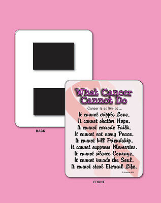 What Cancer Cannot Do 4 X 5 Sign Fridge Magnet Inspirational