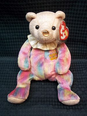 "TY Beanie Babies 7"" Birthday Teddy Bear ** OCTOBER ** New W/ Tags"