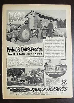 Small Original 1956 Texaco Photo Endorsement  Ad by R C Taylor of Andalusia, Ala