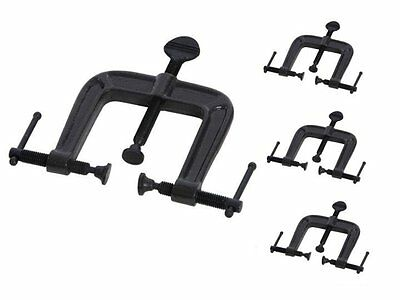 Silverline 4 X 3 Way Woodworking Clamps Steel Jaws Angled  62mm Corners   5A