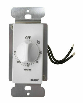 Coleman Cable 59717 Automatic 60 Minute Switch Timer White Wall Control