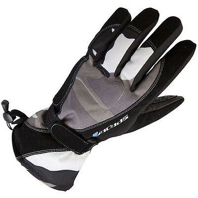 Spada Camo 100% Waterproof Leather & Textile Thermal Gloves Black - SALE