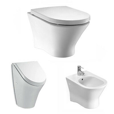 Rockysoft Wand-Wc Spülrandlos 734664L000+Wc-Sitz Softclose+Urina/bidet Roca Nexo