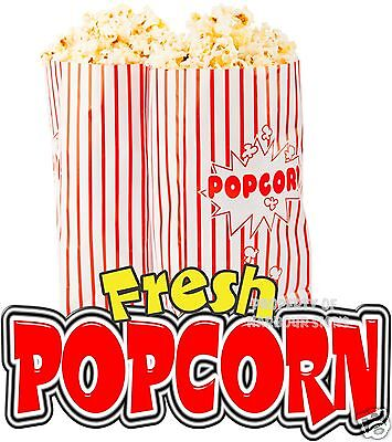"Fresh Popcorn 14"" Decal Concession Food Truck Cart Trailer Vinyl Sticker Sign"