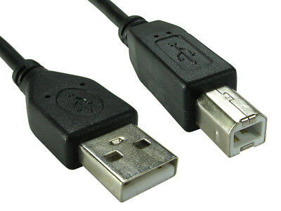 1.8m USB 2.0 High Speed Cable Printer Lead A to B Black Epson Kodak HP 2m 6ft