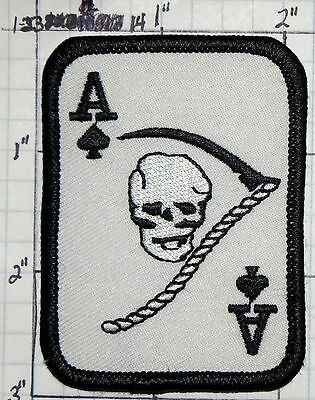 ACE OF SPADES WITH SKULL VIETNAM WAR NOVELTY PATCH