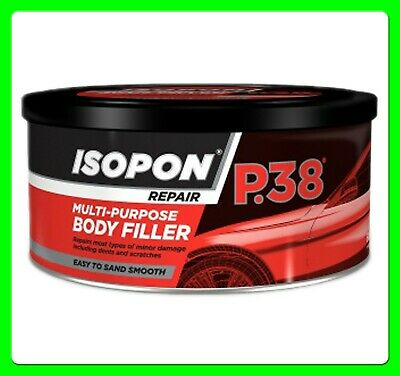 P38 Isopon Car Body Filler with Hardener [filler38] 250ml (stopper/gob)