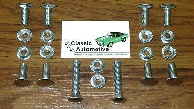 Camaro 68 Bumper Bolts 20pc Kit w/ Nuts Front Rear *In Stock* stainless cap bolt