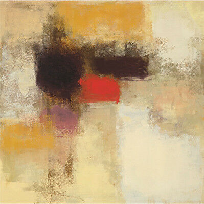 """SPECTACULAR WARM VARIANT ABSTRACT CANVAS 36W/""""x24H/"""" CANTATA by ERIC BALINT"""