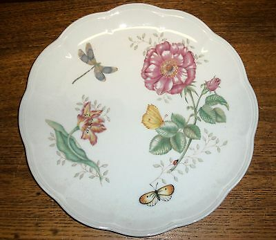 """Porcelain Dinner Plate - Lenox Butterfly Meadow Dragonfly Louise Le Luyer - 11"""""""