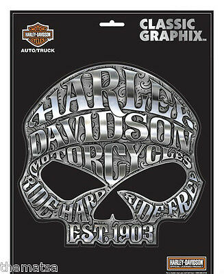 """Harley Davidson Motorcycles Willie G. Skull Classic Graphix 8"""" Sticker Decal"""