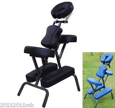 """New 3"""" Padding Portable Massage Chair for Tattoo Spa with Free Carry Case"""