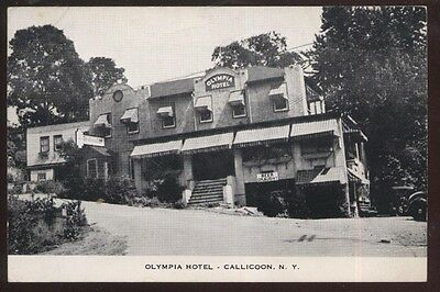 Postcard CALLICOON New York/NY  Olympia Hotel view 1920's?