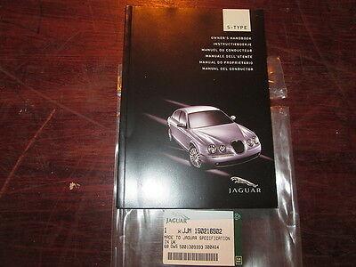 Jaguar S Type Owners Hand Book (Manual Del Conductor )Spanish