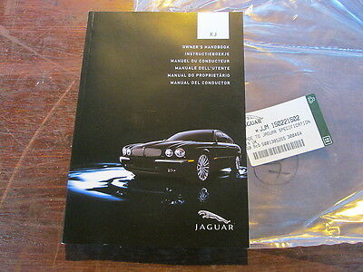 Jaguar Xj Owners Hand Book ( Manual Del Conductor ) New