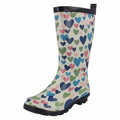 WHOLESALE Girls Heart Print Wellingtons / Sizes 10x2 / 14 Pairs / X1206