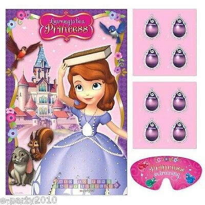SOFIA the FIRST PARTY GAME POSTER ~ DISNEY PRINCESS Birthday Party Supplies