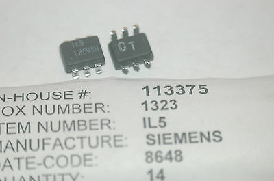 SIEMENS IL5 Optocoupler 6-Pin Plastic SMD New Quantity-10