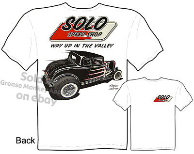 Model A Ford Coupe Gasser Haulin A Mens T shirt Solo Speed Shop