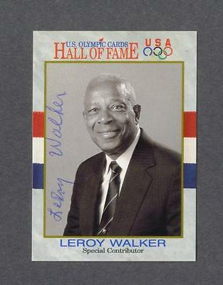 Leroy Walker signed US Olympic Hall of Fame trading card