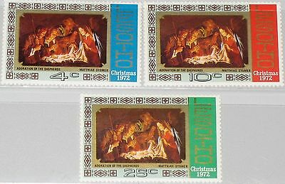 LESOTHO 1972 128-30 Christmas Weihnachten Paintings Gemälde Religion MNH