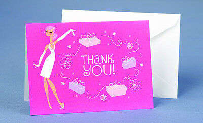 Bride with Gifts Bridal Shower Thank You Notes 25//pk