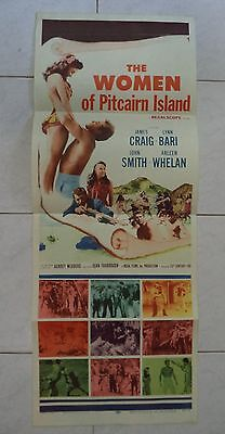 "THE WOMEN OF PITCAIRN ISLAND 1956 RARE VINTAGE US INSERT POSTER 36""x14"""