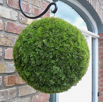 Best Artificial 38cm Conifer Topiary Ball alt Boxwood Buxus Grass Hanging Basket