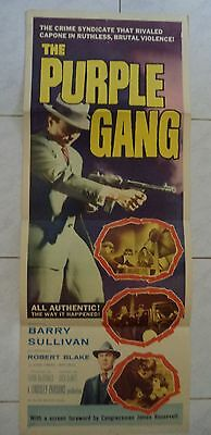 "THE PURPLE GANG 1959 VINTAGE US INSERT POSTER 36""x14"""