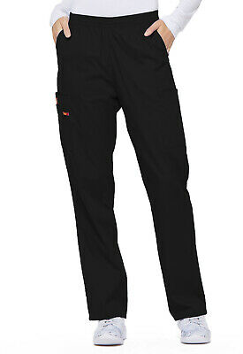 Black Dickies Scrubs EDS Signature Natural Rise Pull On Pants 86106 BLWZ