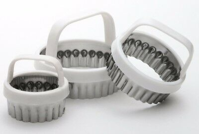 Norpro 3490 Scalloped Cookie and Biscuit Cutter Set of 3