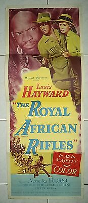 THE ROYAL AFRICAN RIFLES 1953 RARE VINTAGE US INSERT POSTER 36x14 LOUIS HAYWARD