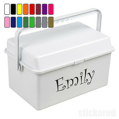Personalised Name Vinyl Sticker Decal For Baby Changing Box Boys Girls Kids