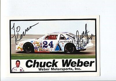 Chuck Weber NASCAR ARCA Stock Car Driver Owner Signed Autograph Photo