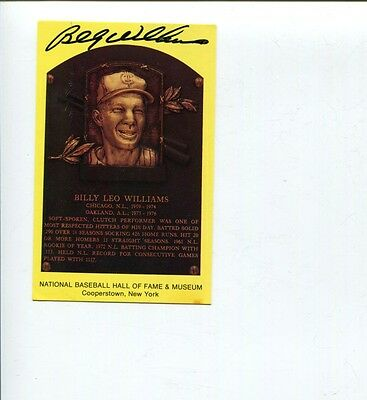 Billy Williams Chicago Cubs Oakland Athletics HOF Signed Autograph Photo JSA