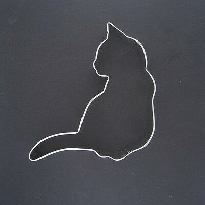 """Curled Cat 3.75"""" Metal Cookie Cutter Fondant Kitten Stencil Party Favor Kitty"""
