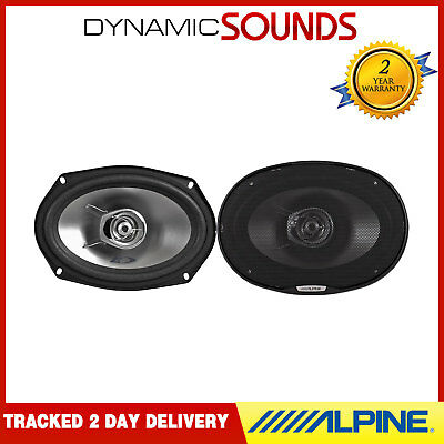 "Alpine SXE-6925S 6""x 9"" (15x23cm) Coaxial 2-Way Car Speakers 280W"