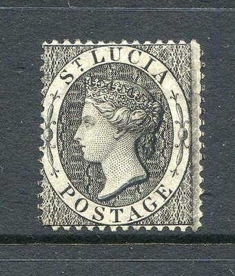 St. Lucia 18864/74 1 Black Crown CC perf. 13 mint large part o.g. (2014/02/#13)