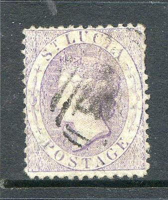St. Lucia 1864/71 6d Mauve perforation 12½ fine used  (2014/02/12#11)