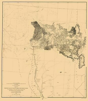 Topographical Map - Mud Lakes Nevada, California Geographical 1855 - 23 x 26