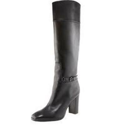 6468b01fea14 Christian Louboutin MERVILLON 85 Black Leather Belted Knee High Boots  1495