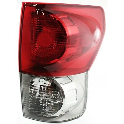 Tail Light For 2007-2009 Toyota Tundra RH w/ Bulb(s) Clear & Red Lens