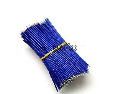 50pcs Blue Tinning PE Wire PE Cable 100MM 10cm Jumper Wire Copper Wire