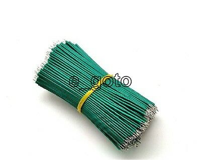 50pcs Green Tinning PE Wire PE Cable 100MM 10cm Jumper Wire Copper Wire